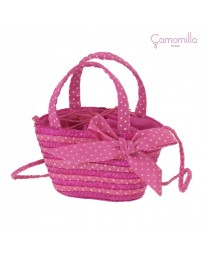Borsa Baby Tracollina CAMOMILLA Fiocco Fuxia - Bambina