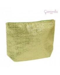 Pochette Lurex Verde Chiaro/Oro