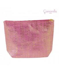 Pochette Lurex Rosa/Oro