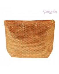 Pochette Lurex Arancione/Oro