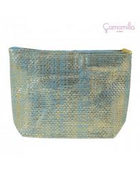 Pochette Lurex Azzurro/Oro
